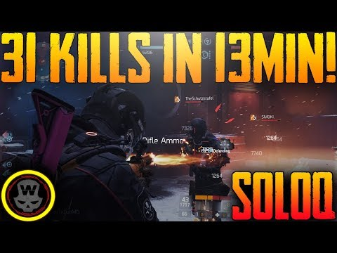 SOLOQ 31 Kills in 13minutes! Last Stand gameplay (The Division)