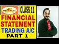57 # CLASS 11 FINANCIAL STATEMENTS TRADING A/C FORMAT.....PART 1
