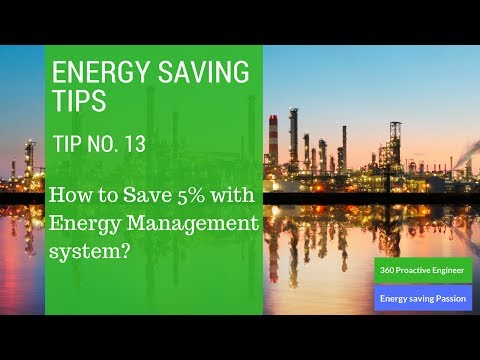 Energy Saving tip No 13 (Setting an Energy management system)
