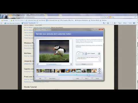 How To Use Windows Photostory 3 For Students