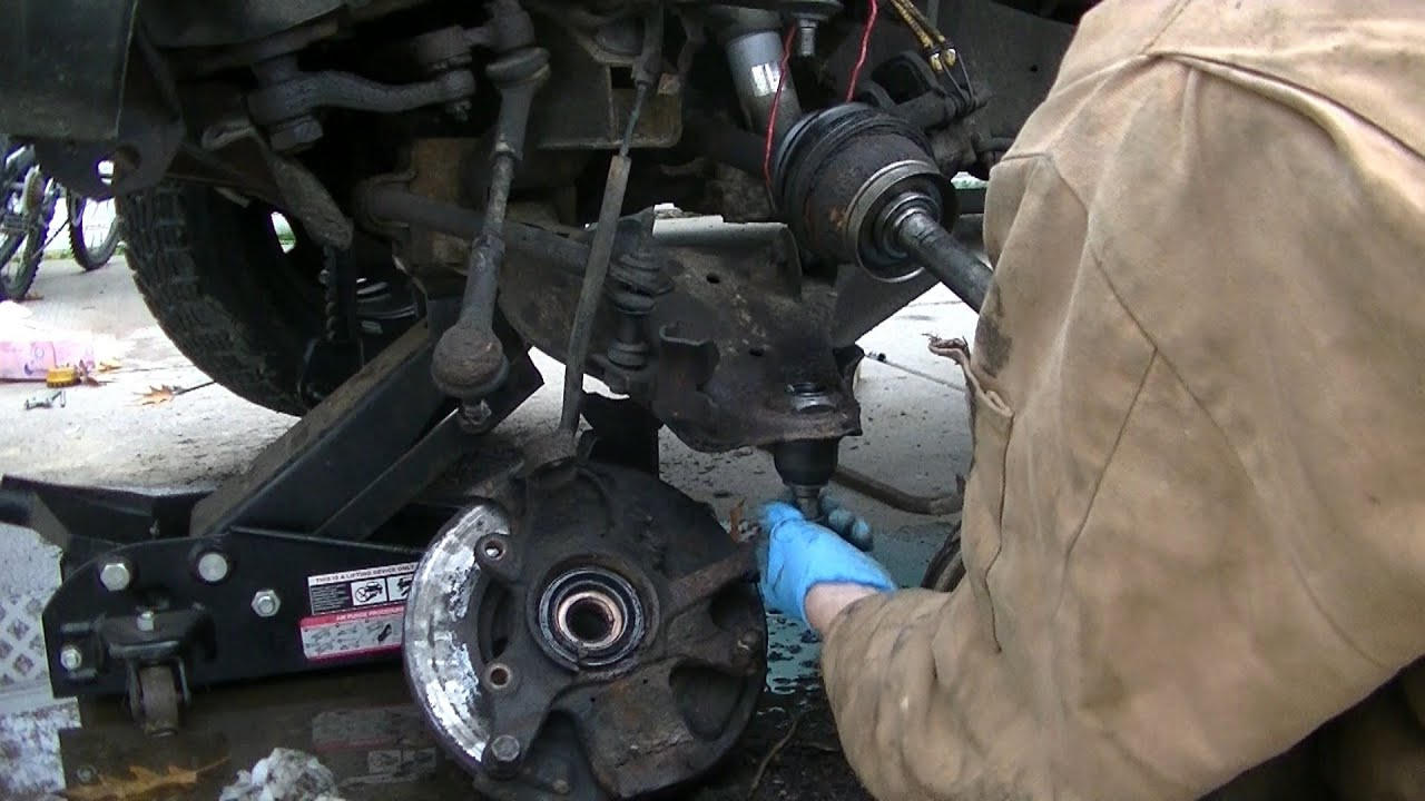 How to Replace Upper and Lower Ball Joints - YouTube
