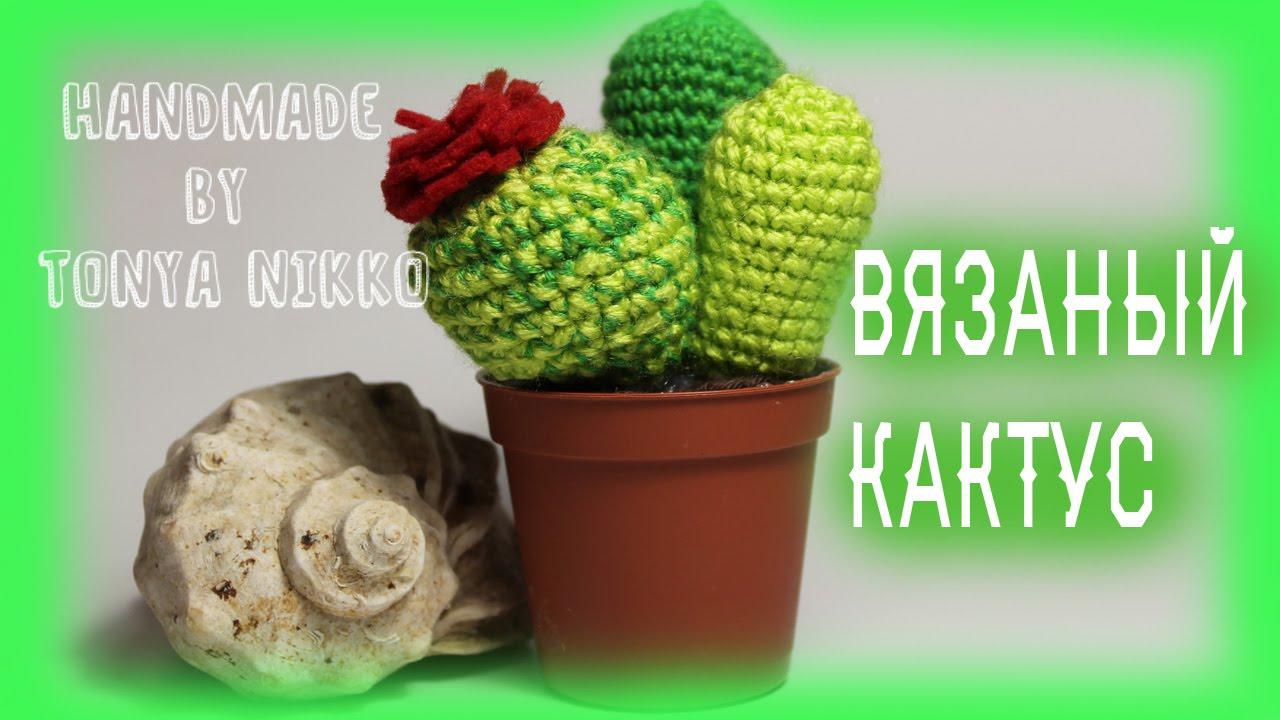 вязание крючком кактус Crochet Cactus Youtube