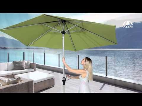 Doppler Sonnenschirm Active 280 Und 320 Cm Auto Tilt Youtube