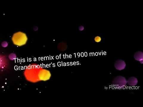 Vintage 1900  film Grandmother's Glasses with effects and Piano Role. Piano style100.
