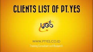 Training Provider | Clients of PT YES
