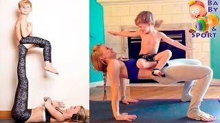 Домашний фитнес мамы с ребенком