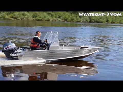 Алюминиевая моторная лодка Wyatboat 390M с мотором Sea-Pro F15 SE