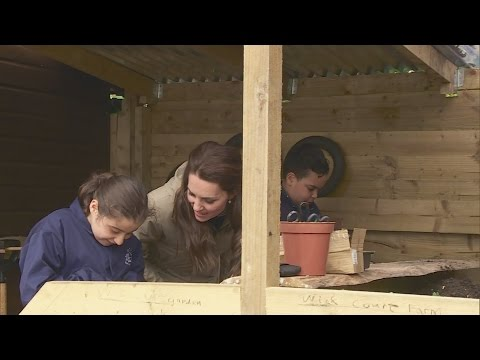 The Duchess of Cambridge spends the day at the Farms for City Children project