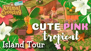 CUTE PINK TROPICAL Fairycore Cottagecore Island Tour - Animal Crossing New Horizons