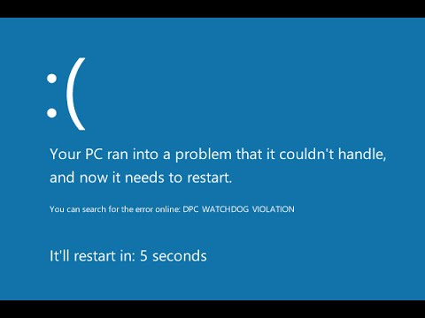 blue screen of death fixed your pc ran into a problem windows 10 8