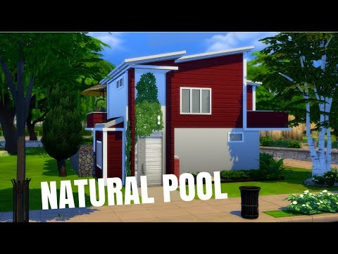 Modern Home With a NATURAL POOL | The Sims 4 House Building