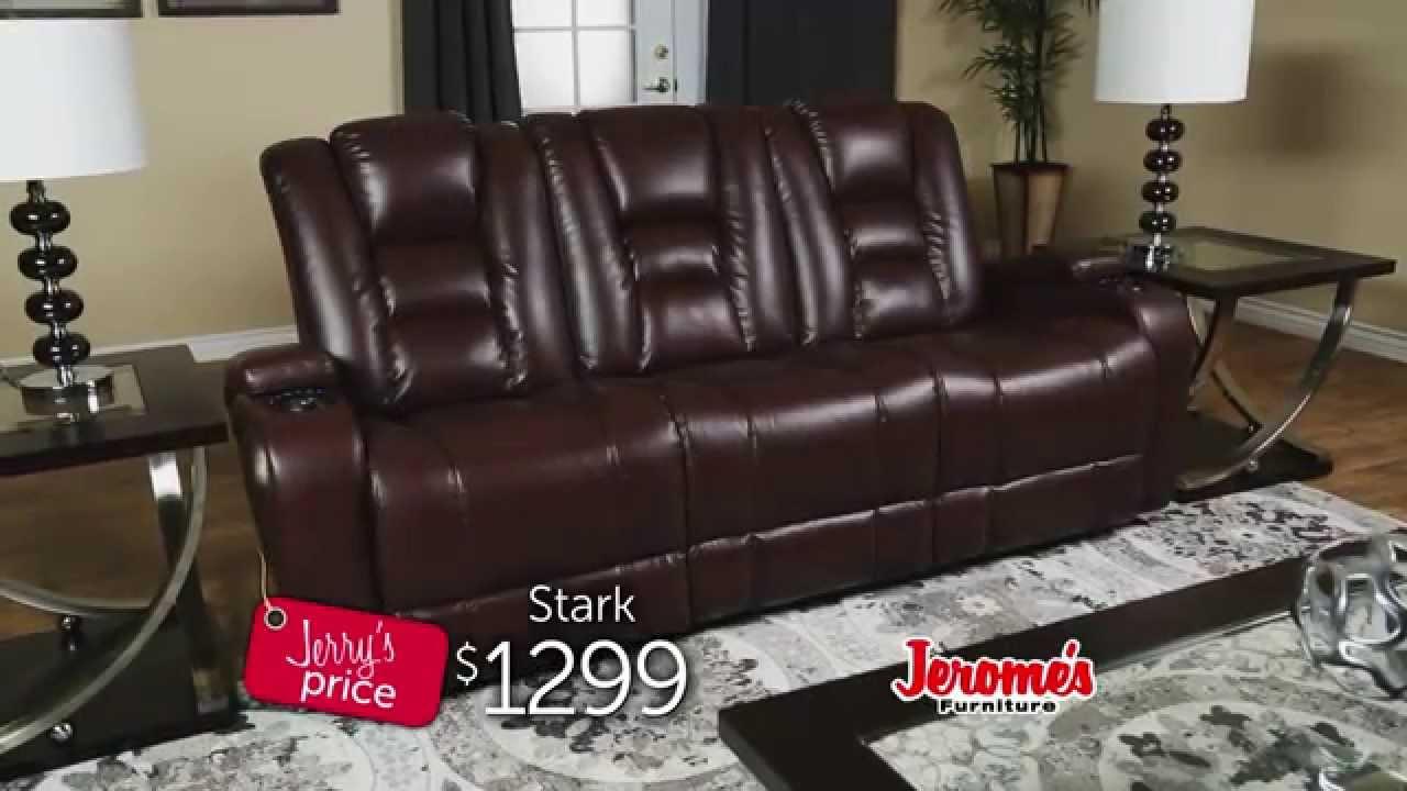 Jeromeu0027s Furniture   Stark Reclining Sofa   YouTube
