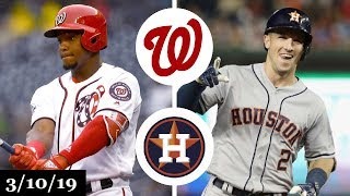 Washington Nationals vs Houston Astros Highlights | March 10, 2019 | Spring Training