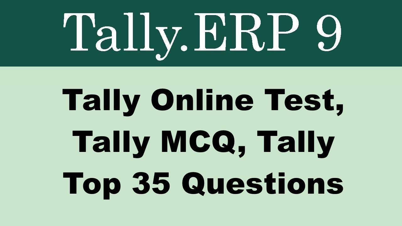 Tally MCQ, Tally Online Test in Hindi, Tally ERP 9 MCQ