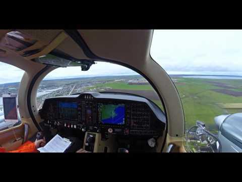 Diamond Aircraft DA62 - Gusting 30 Knots Landing Wick [2K]