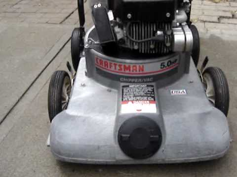 5hp Craftsman Tecumseh lawn chipper/vaccum vac for sale on ...