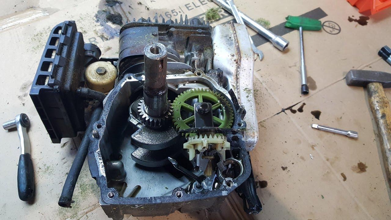 Bent Crankshaft In Lawnmower Repair Briggs Stratton Engine Disasembly