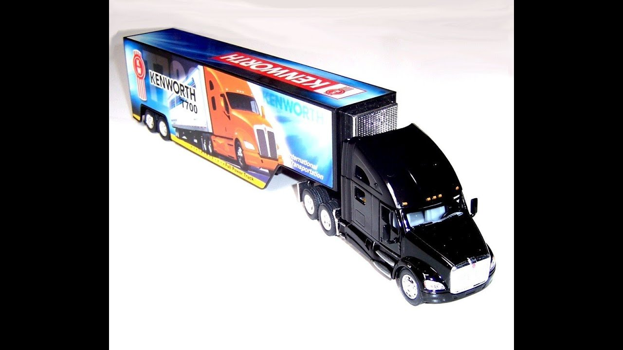 Kenworth T700 Semi Truck With Container Trailer 1 68 Scale