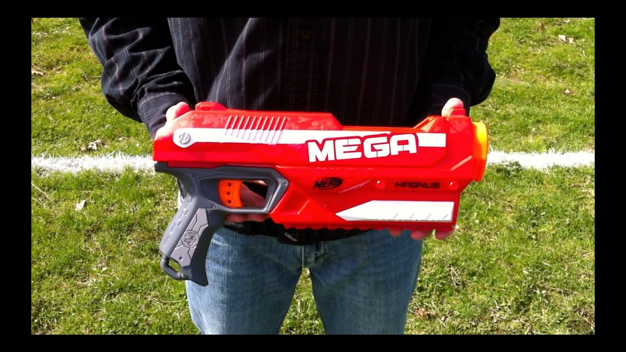 62b2af333ea Nerf N-Strike Elite MEGA Magnus - Range Test (Stock) - YouTube