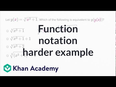 Function Notation — Harder Example | Math | New SAT | Khan Academy