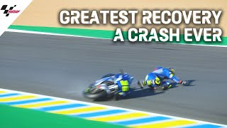 Greatest recovery a crash ever by Joan Mir! | 2020 #FrenchGP