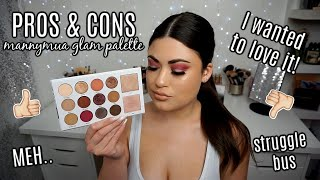 Honest First Impression MANNYMUA x MORPHE Glam Palette 😬Swatches & Tutorial!