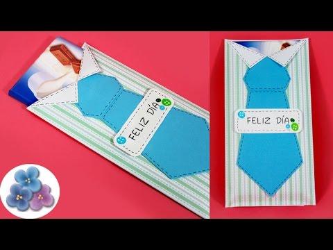 Como hacer tarjetas para regalar chocolates regalo para - Manualidades para hacer tarjetas ...