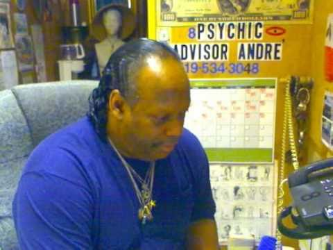 Psychic Advisor Andre' enjoying a Reading with a very polite caller.