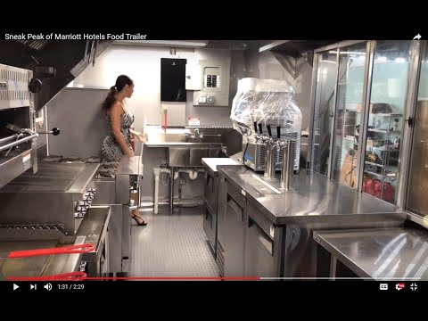 Sneak Peak of Marriott Hotels Food Trailer - Yes, they also have a trailer