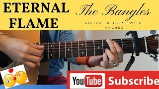 ETERNAL FLAME Guitar Tutorial by The BANGLES with Chords and Tabs