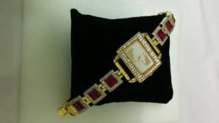 Sam_watches collection.This exclusive royal rich look  real imitation ruby  Gifts watch..