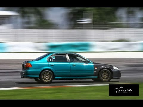 Honda Civic 4Door Full Track Run Trackday Sepang Circuit July 2017