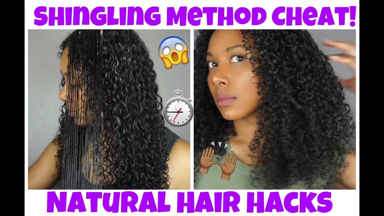 Shingling Method Cheat For Defined Curls L Natural Hair Hacks Ft