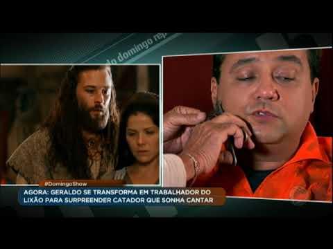 Maquiador de Os Dez Mandamentos transforma Geraldo Luis em catador