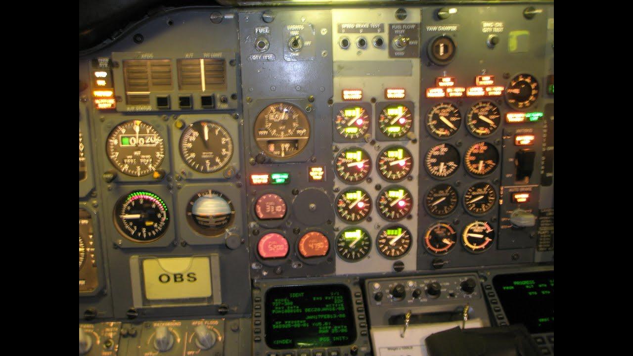 Boeing 737 cockpit: walk around, cockpit preparation, engine start, takeoff