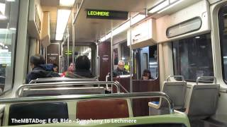 TheMBTADog: MBTA E Green Line Ride - Symphony to Lechmere [Type 7 Kinki Sharyo 3607]