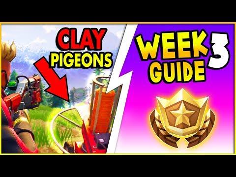 Fortnite Shoot A Clay Pigeon Locations, Treasure Map Secret Star Location (Season 5 Week 3 Guide)