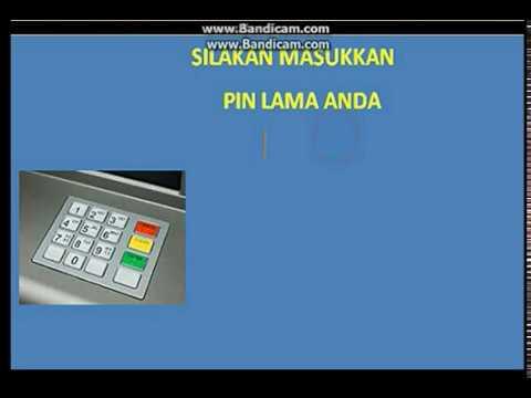 TUTORIAL UBAH PIN ATM - TIDAH HARUS KE KANTORNYA..!!.