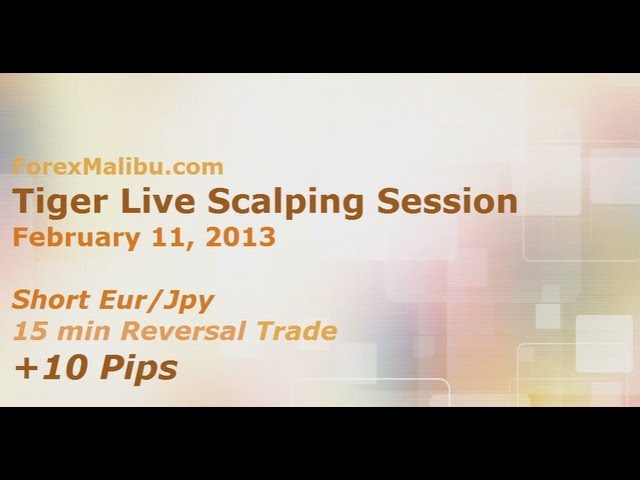 Feb 11, 2013 – Eur/Jpy Short 15m Reversal Trade +10 Pips – Live Forex Trading Training