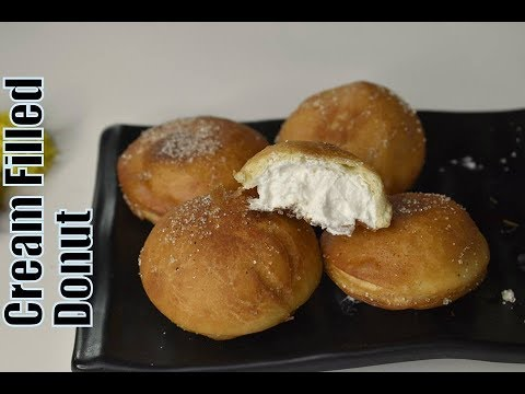Cream Filled Donuts|| Eggless Cream Filled Donuts || Easy Donuts Recipe