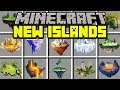 Minecraft NEW ISLANDS MOD! | BUILD FLOATING HOUSES, STRUCTURES, BUILDINGS! | Modded Mini-Game