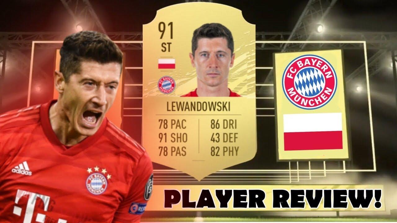 WHAT A STRIKER! 🔥 (91) LEWANDOWSKI PLAYER REVIEW! - FIFA ...