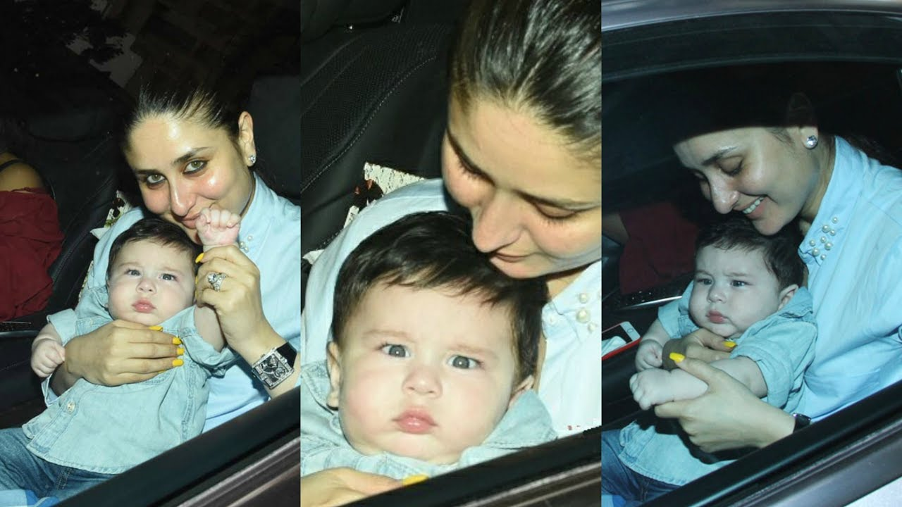 Kareena Kapoor And Taimur Ali Khan Cute At Tusshar Kapoor ...