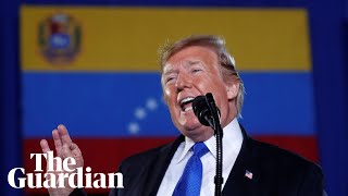 Donald Trump's direct appeal to Venezuelan military to back Juan Guaidó