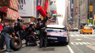 Nascar Pit Stop In Times Square W/ Red Bull Racing