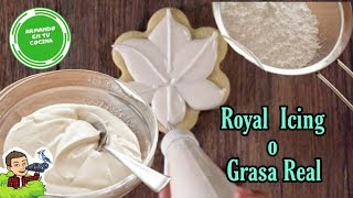 receta de royal icing