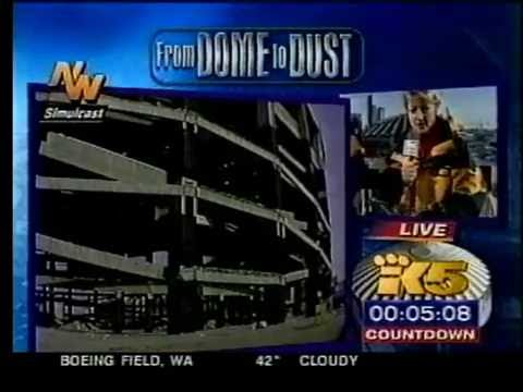 Kingdome Implosion (Seattle, WA) March 26, 2000 (KING 5 extended footage)
