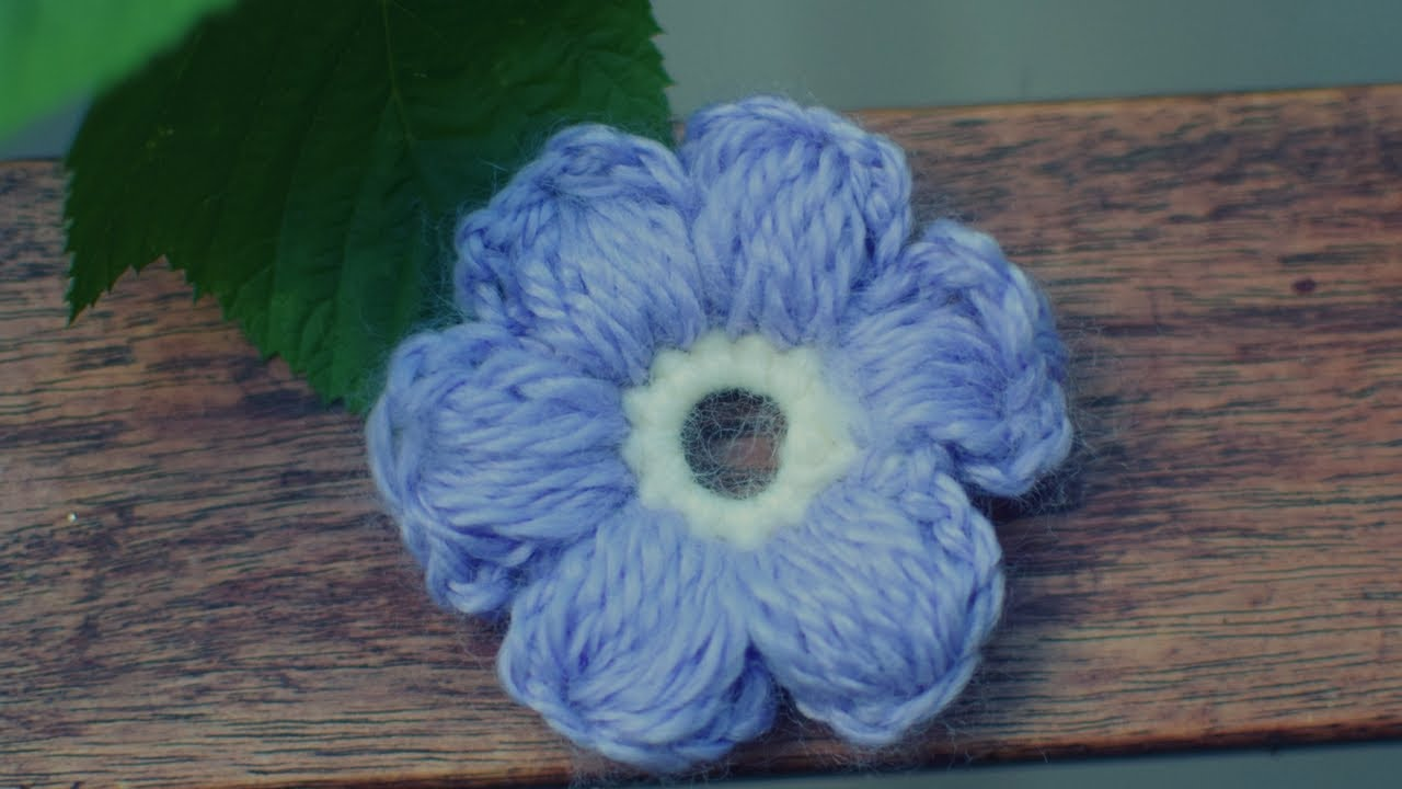 Einfache Blume Häkeln 3d Anleitung Youtube