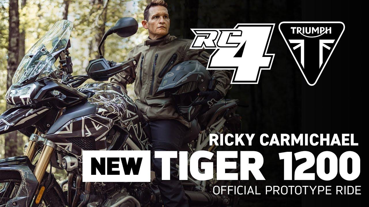 Campeão americano de motocross e supercross testa o protótipo da nova Tiger 1200 - VÍDEO
