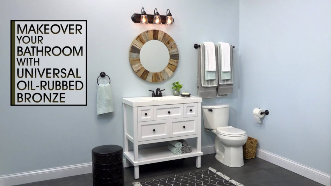 7 Faucet Finishes For Fabulous Bathrooms: Bathroom Fixture Makeover With Universal Oil Rubbed Bronze